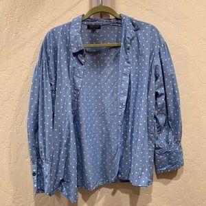 Topshop Star blue cotton long sleeve